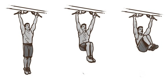 Hanging Leg Lifts (Knee to Elbows)