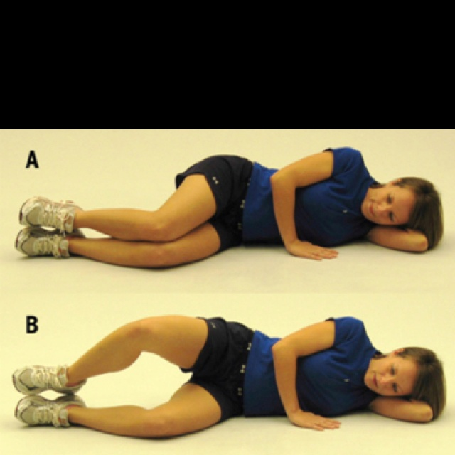 Lying Side Line Hip External Rotation
